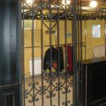 Кованая перегородка с дверью