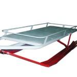 Сани для снегохода (вес 40 кг, грузоподъемность 200 кг, возможна установка амортизаторов и пластиковой кабинки с подогревом)