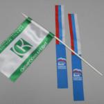 Изготовление флажков, лент с фирменными логотипами